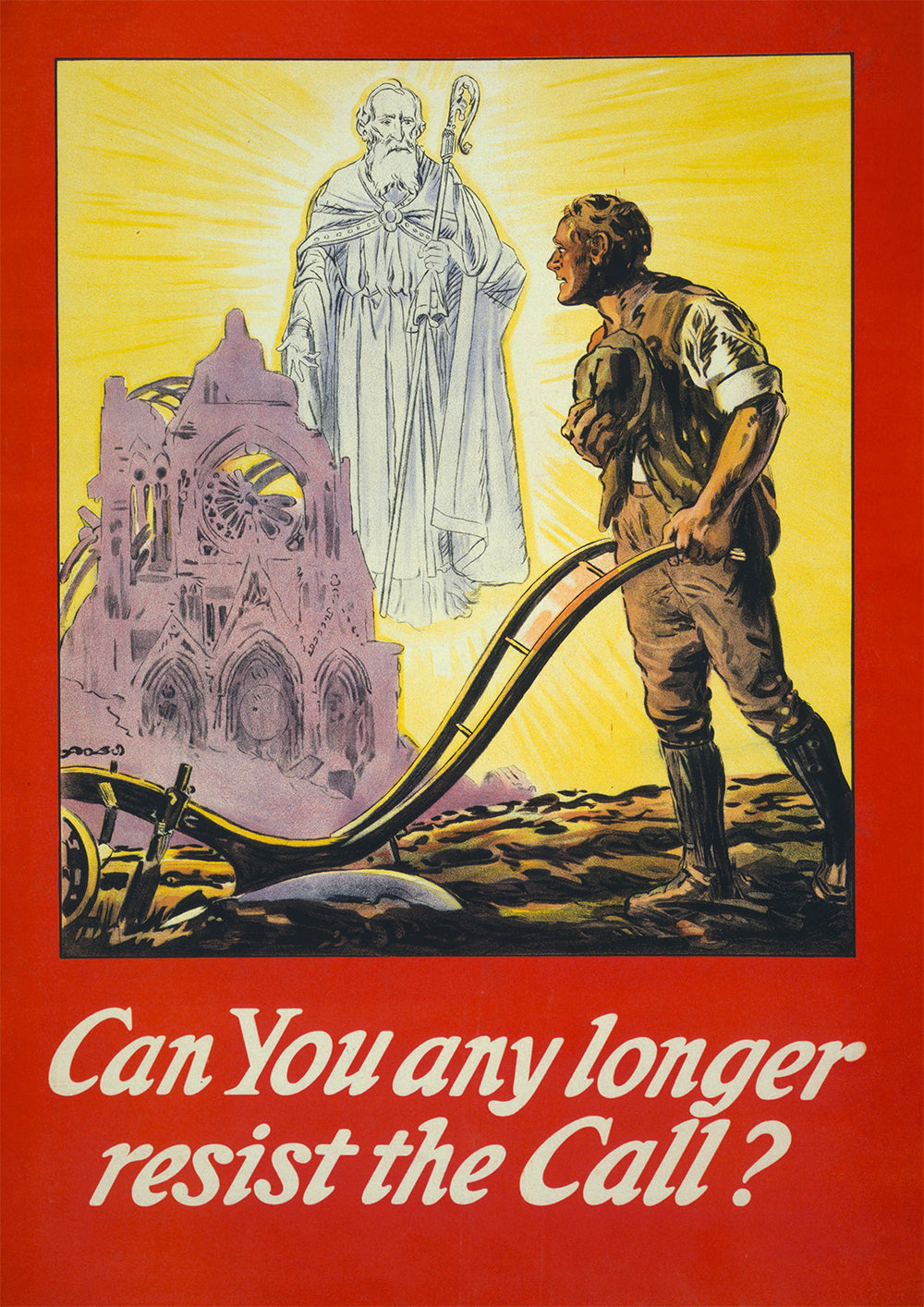 Can you any longer resist the call? – Irish World War One poster