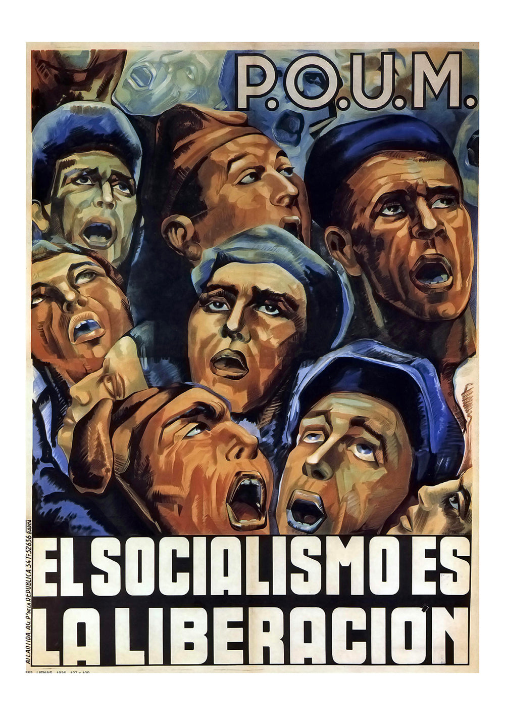 Socialism is liberation – Spanish Civil War poster