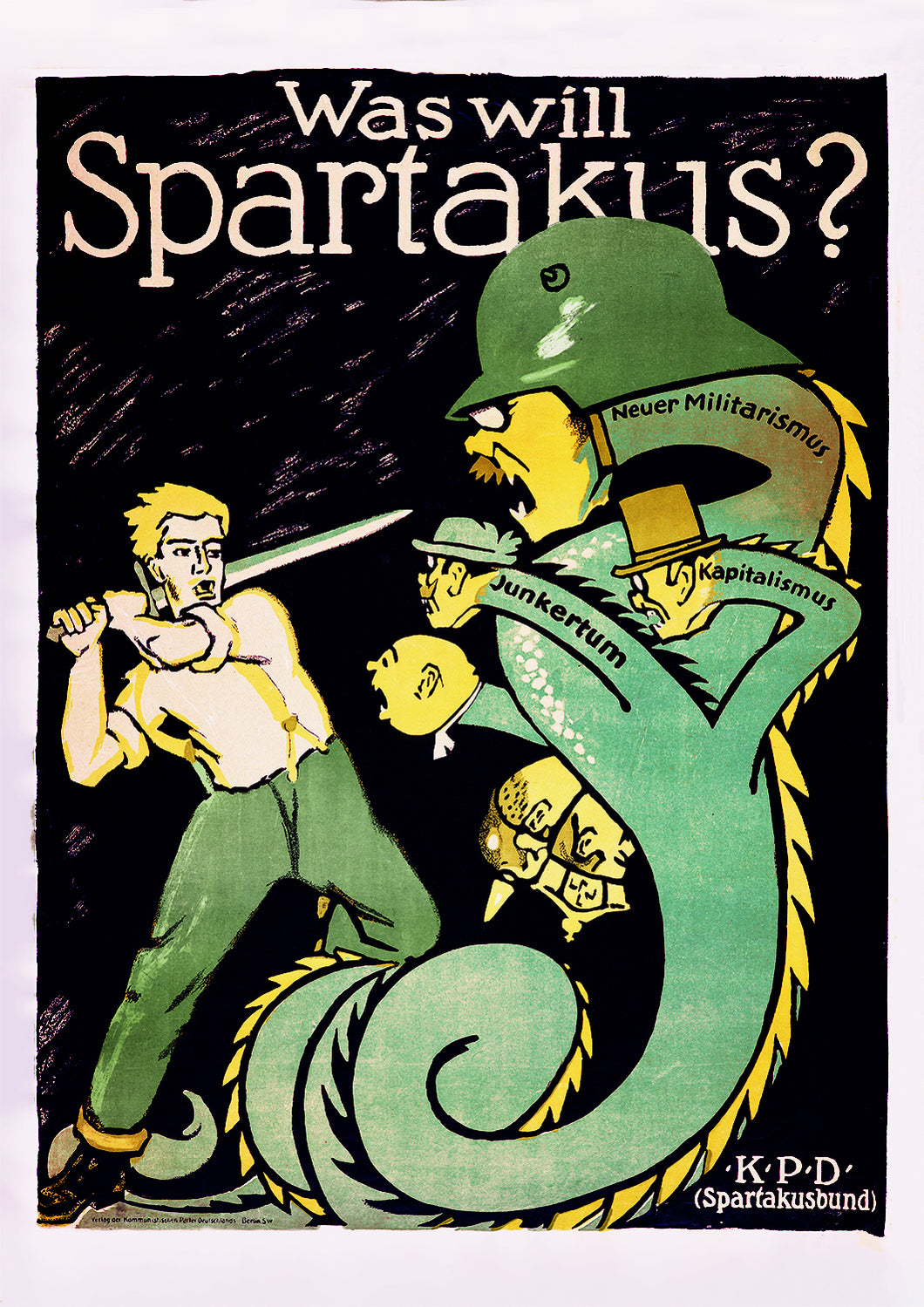 What does Spartakus want? – German poster