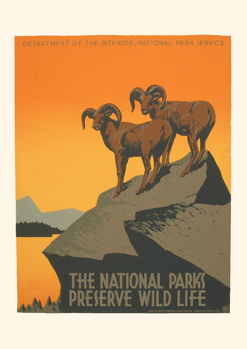 The National Parks preserve wild life – American poster