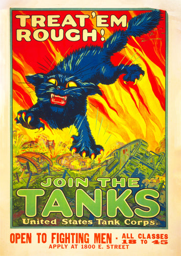 Treat 'em rough – US World War One poster