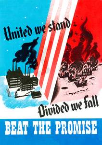 United we stand – US World War Two poster