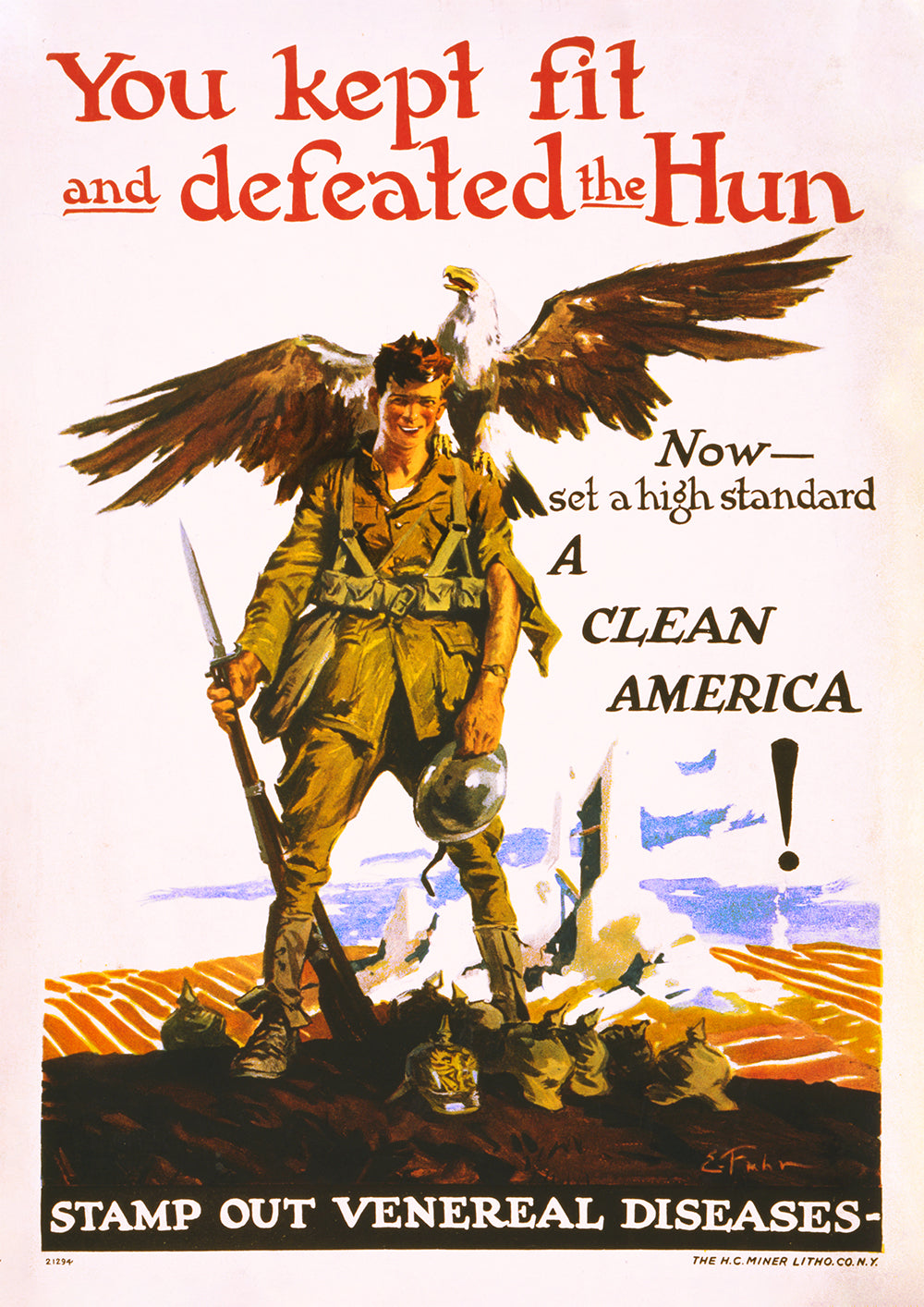 Stamp out venereal diseases – US World War One poster