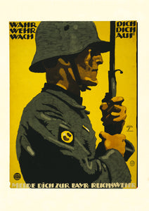 Protect yourself, defend yourself, wake up – German World War One poster