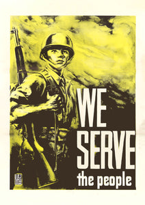 We serve the people - Filipino poster