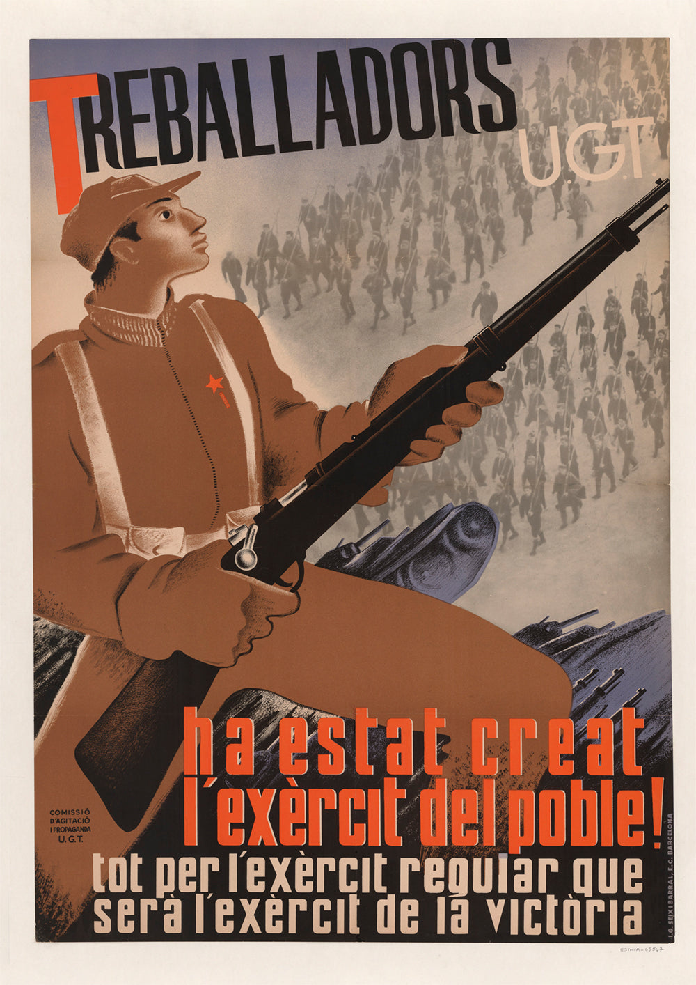 Workers, the people's army has been created! – Spanish Civil War poster