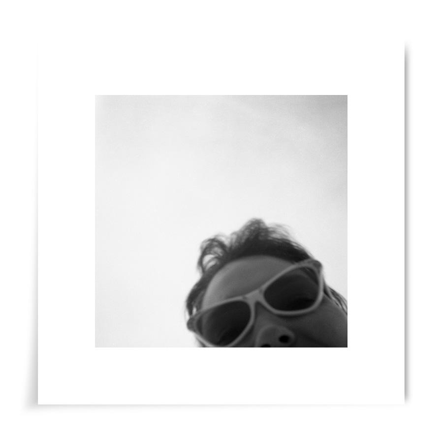 1950s Woman in Glasses - 8x8 Print