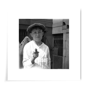 Boy with Toy Gun - 8x8 Print