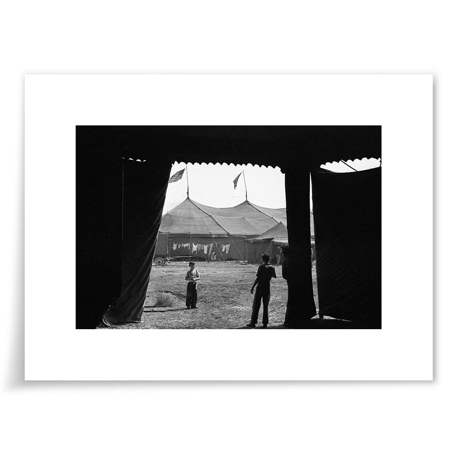 Boys in Circus Tent 1937