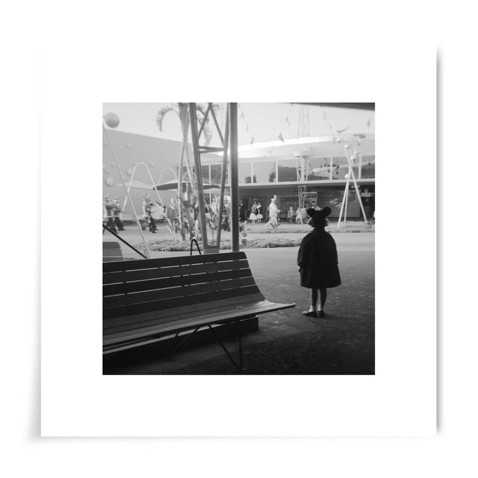 Little Girl at Disneyland 1960s - 8x8 Print
