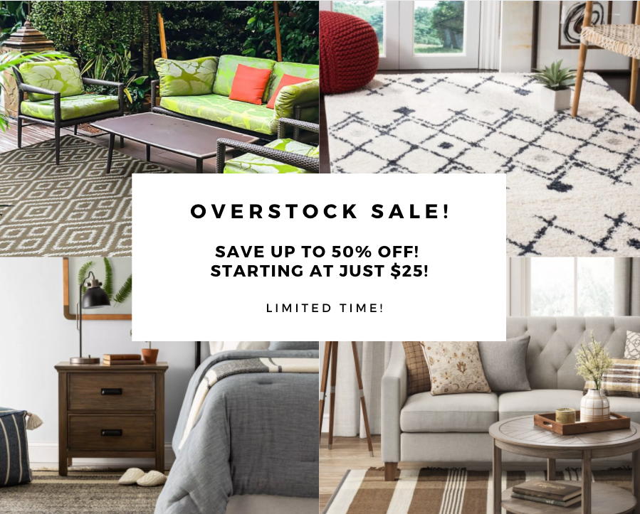 Overstock Sale! Save Up To 50% Off! Starting At Just $25! Limited Time!