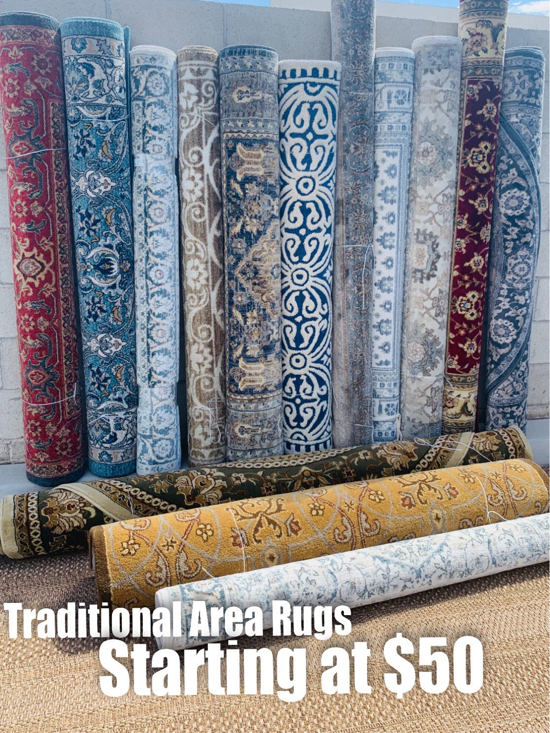 Traditional Area Rug Sale!