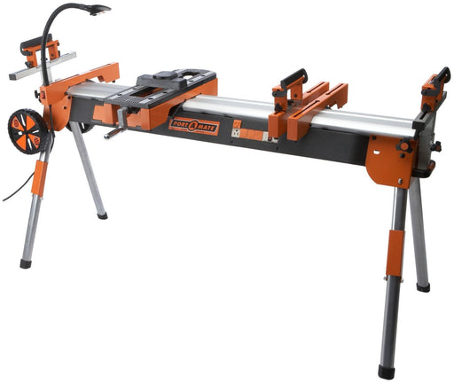 HTC Pm7000 Portamate Folding Miter Saw Power Tool Stand With Wheels Light Vise