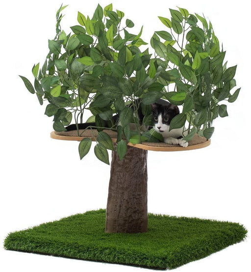 Cat Trees with Leaves, Multi-Level Modern Cat Towers