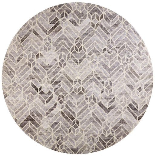 10'x10' Round Feizy Gray/Natural