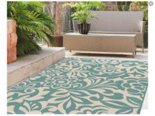 5x7 Tayse Garden City Outdoor Area Rug
