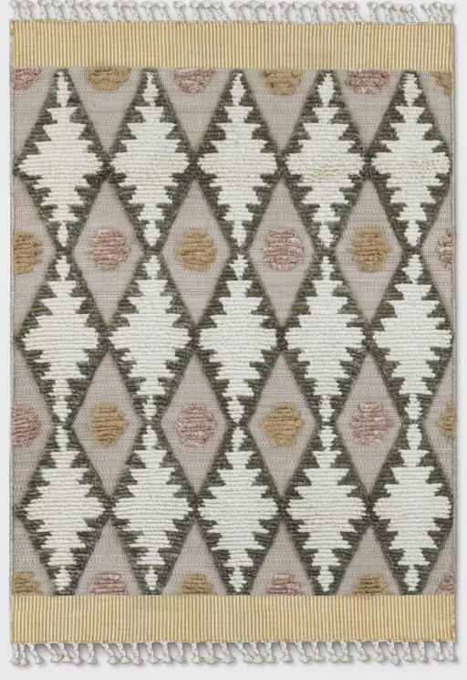 5'X7' Color Cream Meadowsweet Diamond Tufted Rug By Opalhouse™