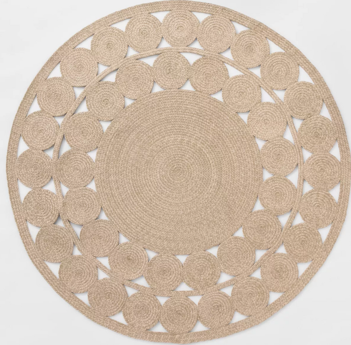 6' Round Ornate Woven Outdoor Rug - Opalhouse™