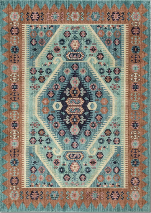 5'X7' Multi-Colored Buttercup Diamond Vintage Persian Woven Rug