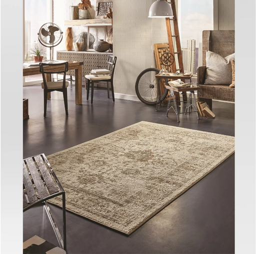 5'X7' Color Tan Vintage Distressed Rug
