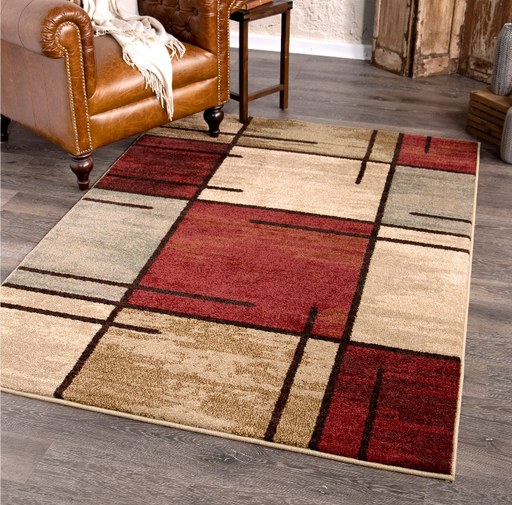 3'11x5'5 Better Homes & Gardens Spice Grid Area Rug
