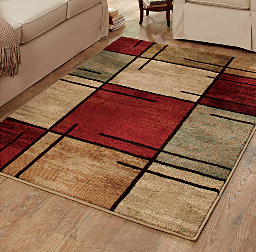 Better Homes and Gardens Spice Grid Area Rug