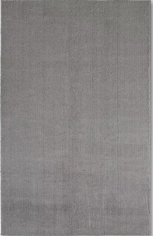 "Size 6'6""x10' Color Gray Solid Tufted Micropoly Shag Area Rug - Project 62™"