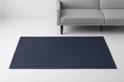 "Size 4'X5'6"" Color Blue Solid Washable Rug - Made By Design™"