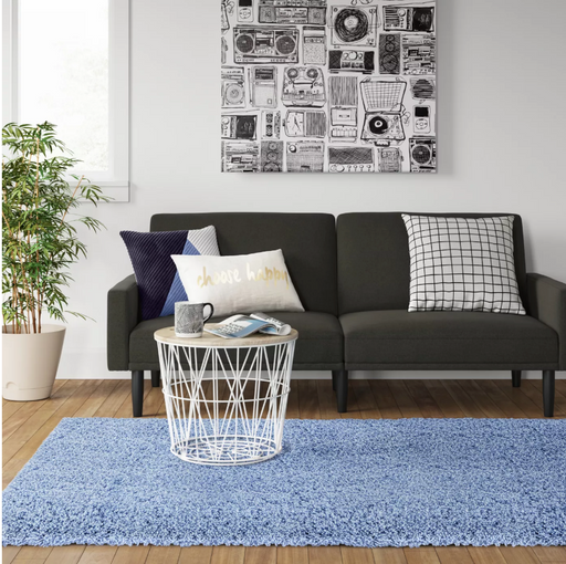 Size 4'x5'6 Color Blue Plush Shag Rug - Room Essentials™