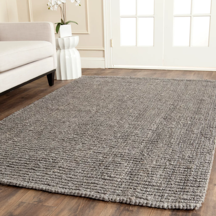 5'x8' Solid Woven Area Rug Light Gray/Grey - Safavieh