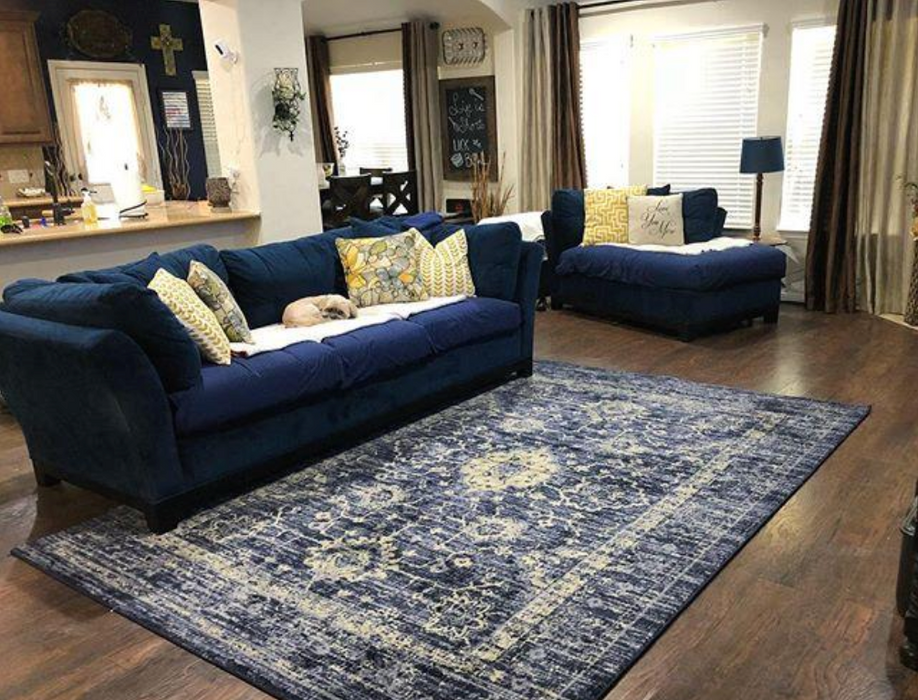 Size 7'X10' Color Indigo Vintage Distressed Rug - Threshold™