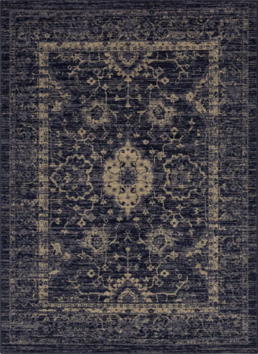 Size 5'X7' Color Indigo Vintage Distressed Rug - Threshold™