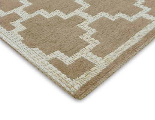 8x10' Beige/Tan Woven Cotton/Jute Auslow Area Rug