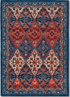 5'X7' Tufted Persian Area Rug Blue - Threshold™