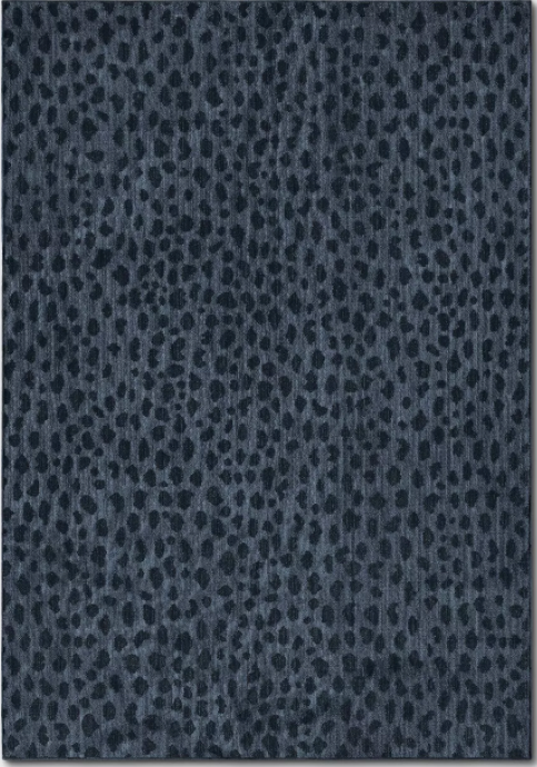 Size 7'X10' Color Blue Leopard Spot Woven Rug - Opalhouse™