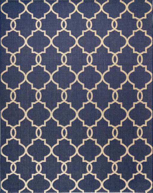 Size 8'x10' Loire Outdoor Rug Navy - Studio by Brown Jordan