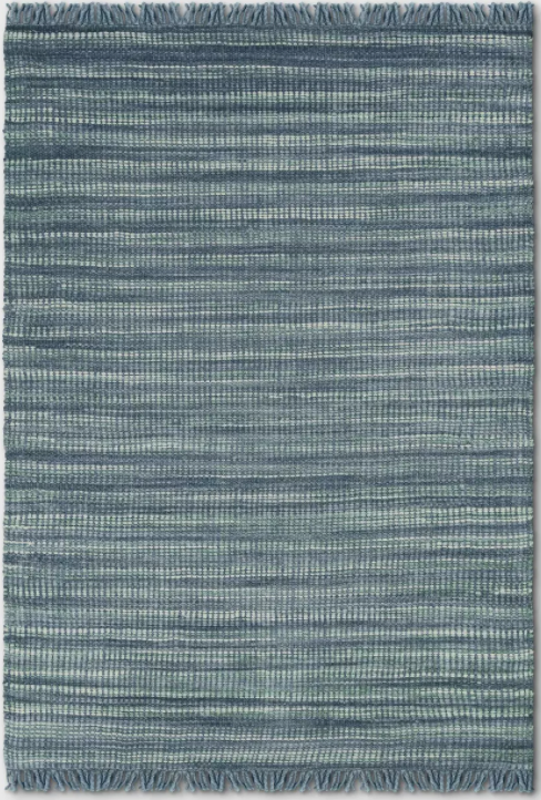 Size 7'X10' Greenvale Jute Stripe Area Rug Blue - Threshold™