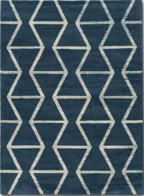 Size 5'X7 Color Navy Glacier Hourglass Woven Area Rug - Project 62™