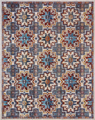 Regio Corda Multi-Colored 5 ft. x 8 ft. Global Indoor Area Rug by Gertmenian & Sons