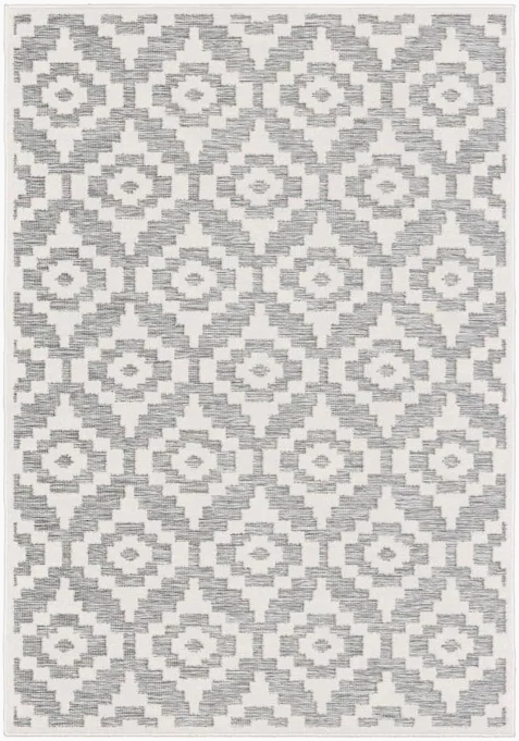 Orian Rugs Boucle Bozeman 7 x 10 Natural/Gray Indoor/Outdoor Geometric Southwestern Area Rug