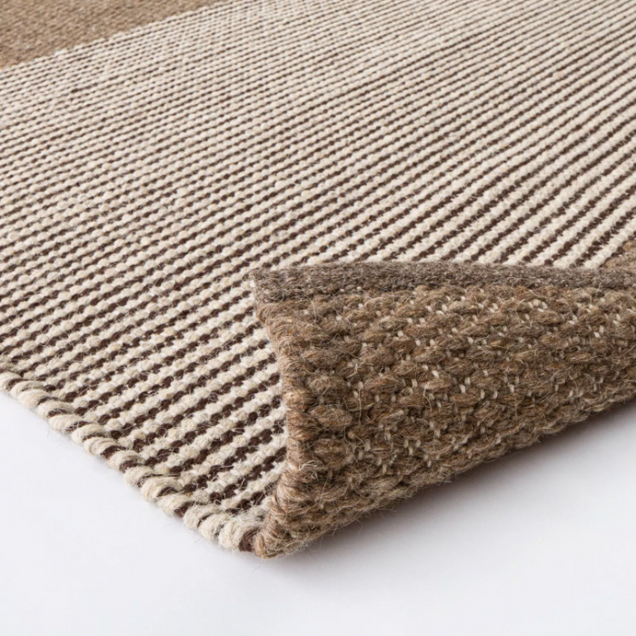 Size 5'x7 Hillside Hand Woven Wool Cotton Area Rug Brown - Threshold™ designed with Studio McGee