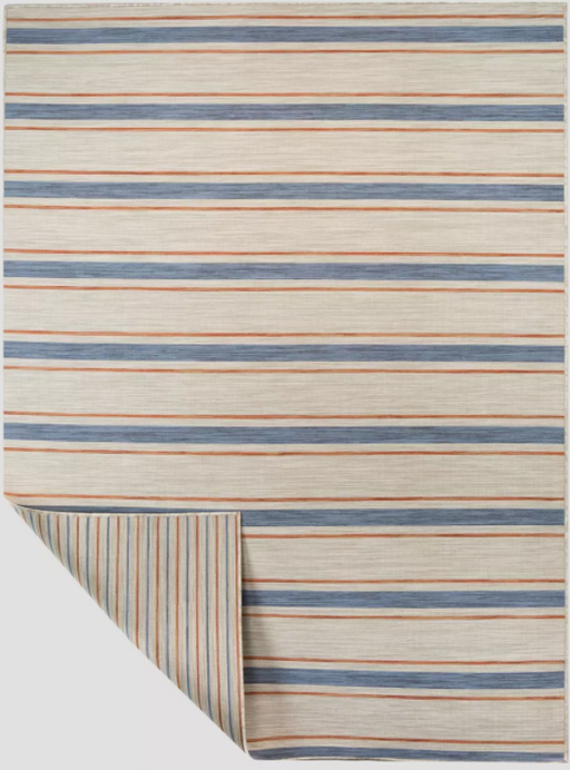 Size 5'X7' Color Tan Reversible Stripe Outdoor Rug - Threshold™