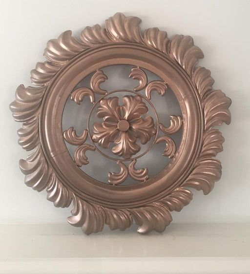 Rose Gold Large Metal Wall Decor
