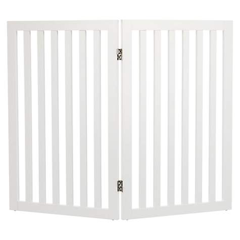 "Trixie Dog Barrier Extension Two Panel White Gate, 40"" L x 2"" W x 24"" H"