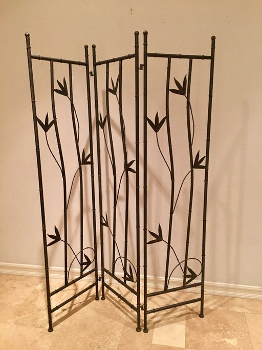Iron Leaf Room Divider-3 Panel -Showroom Sample. Sells for $345 on Wayfair.com also makes a great headboard in a bedroom
