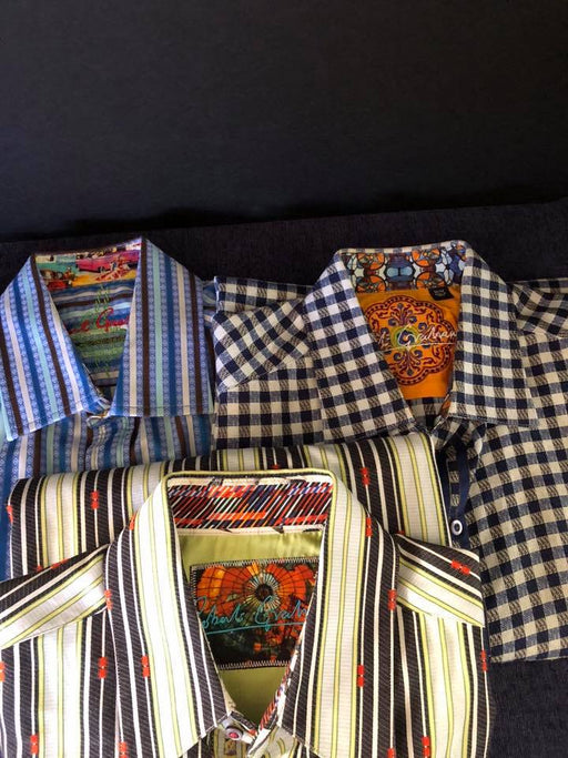 3 Mens ROBERT GRAHAM Shirts Excellent Condition $149 For All 3 Shirts