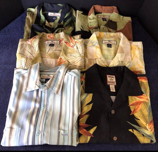 6 Mens Tommy Bahamas Pre-Owned Men's Shirts Excellent Condition $100 For All 6 An Amazing Deal!