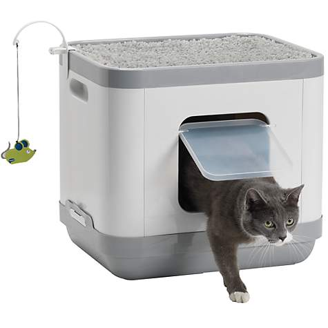 All In One Litter Box, Bed & Play Center - Brand New