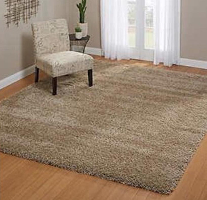 Thomasville Luxury Tan Shag 5x7 Area Rug - Delivery Available $95