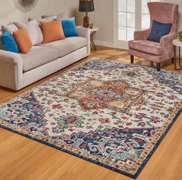 5x7 Multi Color Area Rug Beautiful Pattern - Delivery Available $70